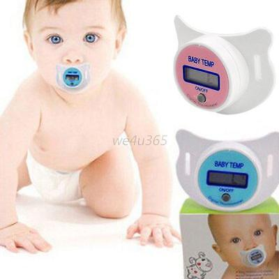 Baby Kids LCD Digital Mouth Nipple Pacifier Thermometer Temperature Practical