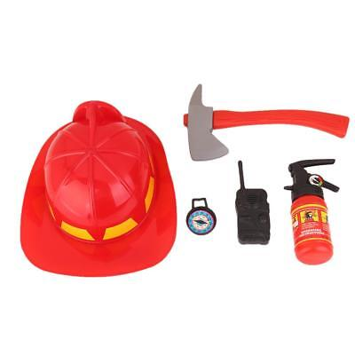 Kids Pretend Play Fireman Hat Tools Set Themed Party Cosplay Costume Toys