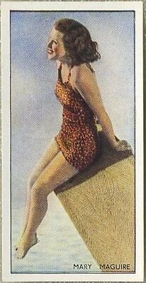 Mary Maguire 1937 Godfrey Phillips Beauties of To-Day Tobacco Card #8