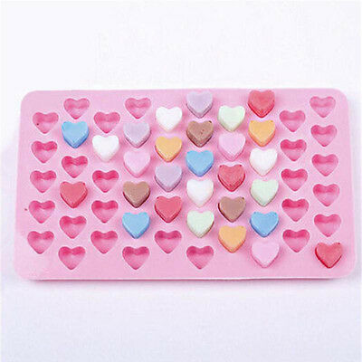 Cute Heart-shape Silicone Ice Cube Chocolate Jelly Tray Cookie Cake Baking Molds