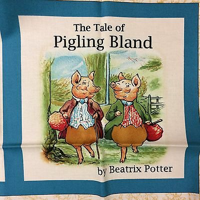 Beatrix Potter The Tale of Pigling Bland Storybook Panel Cotton quilting Fabric