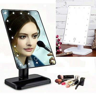 20 LED Lighted Vanity Makeup Beauty Mirror Touch Screen Tabletop Cosmetic Mirror