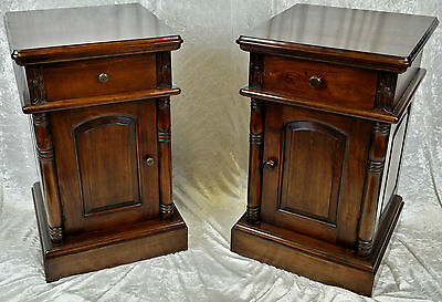 New Solid Mahogany Superior Quality Hand Carved Bedside Cabinets. Free Delivery