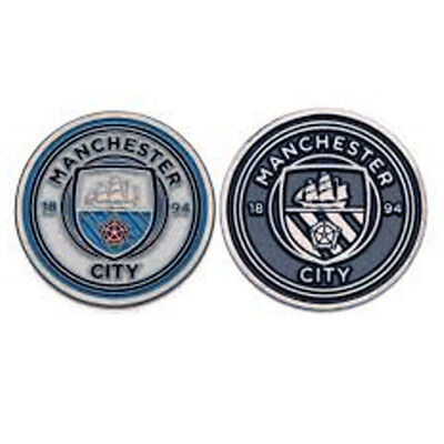 Official Licensed Football Product Manchester City Golf Ball Marker Crest Gift