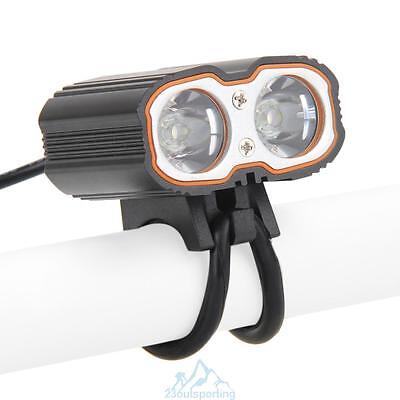 6000Lm 2*CREE T6 LED Cycling Bycicle USB Headlight Headlamp Torch Flashlight