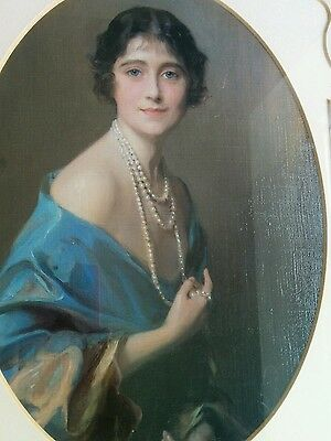 Copy of famous oil painting of Queen Mother Royal Memorabilia
