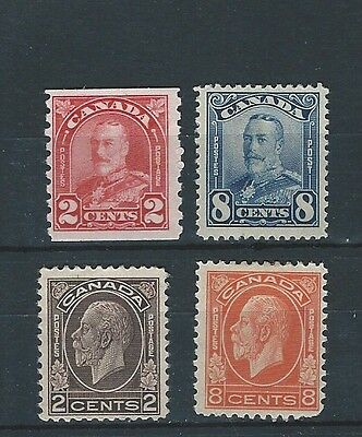 1930/32 Canada Excellent Group Of 4 Mnh/lmm Definitives To 8 Cents (1)