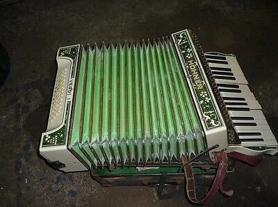 Vintage Hohner 1 Accordion Squeeze Box + Case Verdi 1 Norfolk,