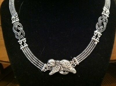 Old English sheepdog Knot Necklace~dog jewelry~celtic~Infinity knot OES