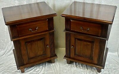 Pair Of Solid Mahogany Superior Quality Bedside Cabinets. Free Delivery