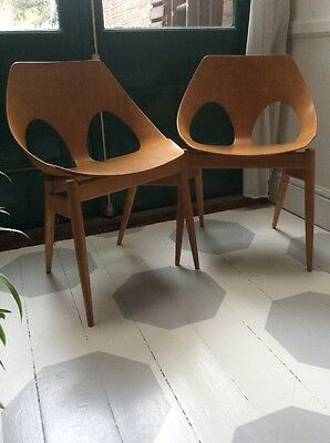 Pair Of Jason Chairs by Carl Jacobs KANDYA Mid Century Vintage