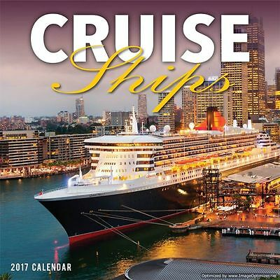 Cruise Ships 2017 Square Wall Calendar NEW by Bartel Calendars RB731
