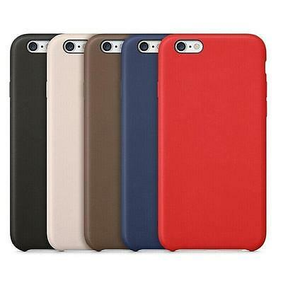 Ultra PU Genuine Leather Hard Back Case Cover For Apple iPhone 5/5S 6/6S 7+FILM