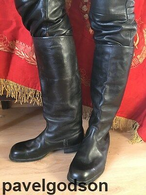 Chrome Soviet Officers Parade Boots USSR Army