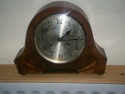 Art Deco Inlaid Striking Mantle Clock
