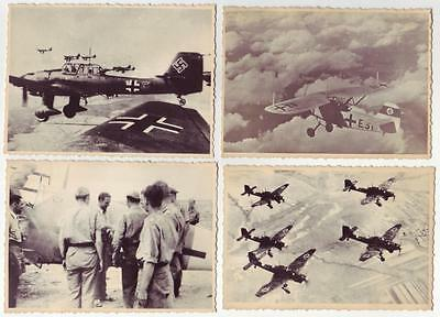 Lot 4 German Wwii Various Photos From Russian Archives: Air Forces Luftwaffe