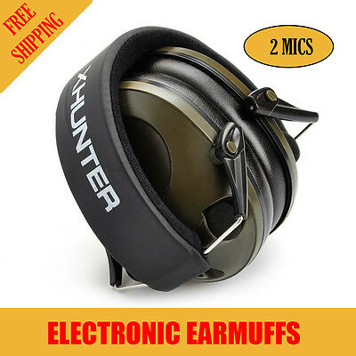 Xhunter Foldable Shooting Hunting Electronic Earmuffs Input Jack Ear Muffs 3.5mm