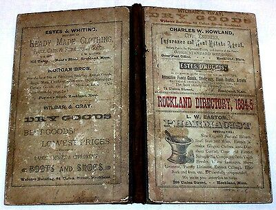 1884 Rare Rockland Massachusetts DIRECTORY Abington Plymouth  Old Ads Genealogy
