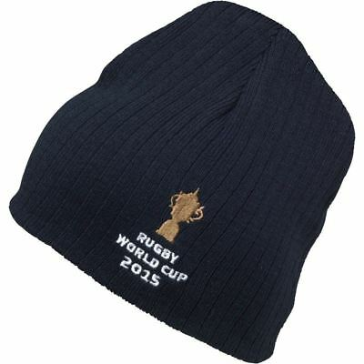 IRB Rugby World Cup 2015 Webb Ellis Trophy Beanie Hat Navy Adults Hat