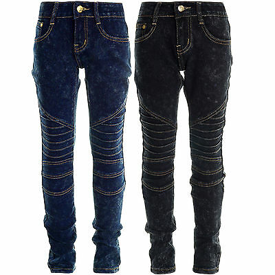 Mädchen Girls Kinder Jeans Hose Stretch Super Skinny Lange Röhren Hose Jeggings