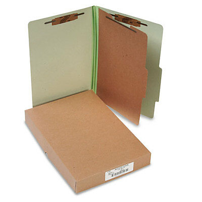 ACCO Pressboard 25-Pt Classification Folders, Legal, 4-Section, Leaf Green,...