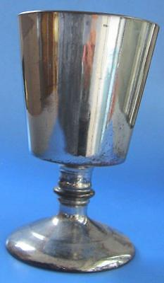 Antique Silver and Copper Lustre Victorian Pottery 19C Goblet