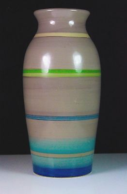 ART DECO HAND PAINTED GRAYS POTTERY VASE SUSIE COOPER C.1930's