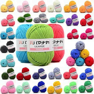 CHIC 42 colors Crochet Soft Bamboo Cotton Knitting Yarn Baby Wool Yarn 25g