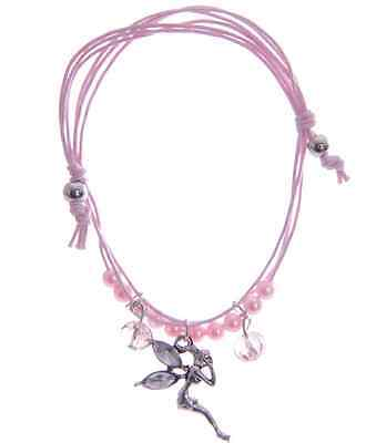 GirlsParty Fillers Fairy Charm Bracelet with envelope Gift Pack Pink