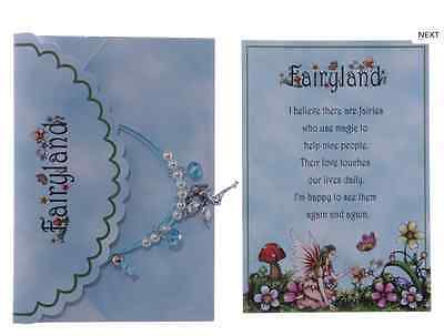 Girls bracelet fairy costume jewellery Blue Fairy Charm Gift Pack Party fillers