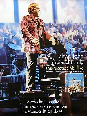 Elton John 2000 The Greatest Hits Live Perforated Poster
