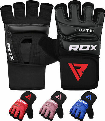 RDX Leather Boxing Gloves Muay Thai Punch Bag Sparring MMA Training Kickboxing S