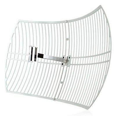 NEW! Tp-Link 2.4Ghz 24Dbi Outdoor Grid Parabolic Antenna Up To 56Km N Female Con