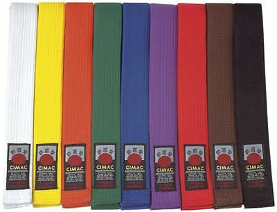 Cimac Judo / Karate / Taekwondo Plain Coloured Martial Arts Belt Various Sizes