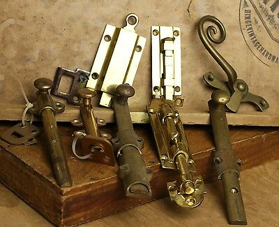 Lot of Brass Slide, cabinet and thumb Locks item 294