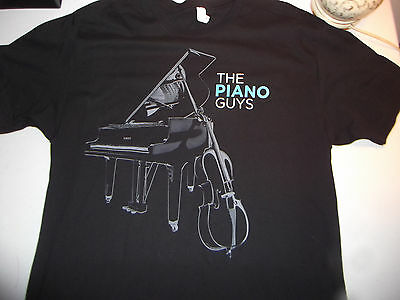 THE PIANO GUYS 2013 Concert Tour Shirt SIGNED Large RARE oop uncharted beethoven