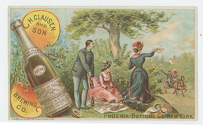 Clausen & Sons Brewing Co Phoenix Bottling Co 1880's Trade Card
