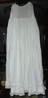 Antique Child's Or Baby Long Nightgown Or Christening Gown