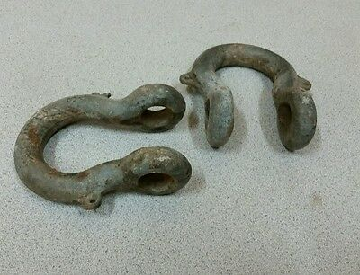 Used lot of 2 Chain,Hitch Shackle Clevis,Industrial,Steampunk Decor
