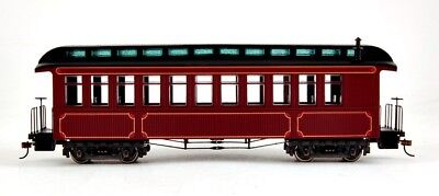 Bachmann On30 Scale Train Passenger Coach/Observation Burgundy & Black 26201