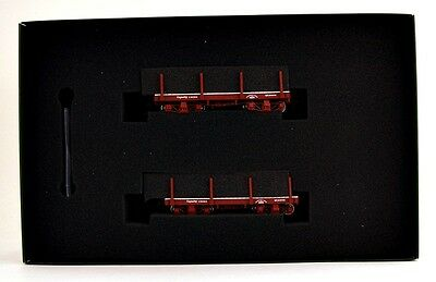 Bachmann On30 Scale Train 18' Oxide Red, Data Only Flat Car (2 per box) 26511