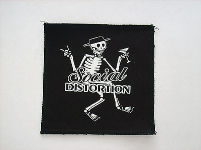 BRAND NEW PUNK SOCIAL DISTORTION 5 x 5 INCH INCH CANVAS PATCH FREE SHIPPING