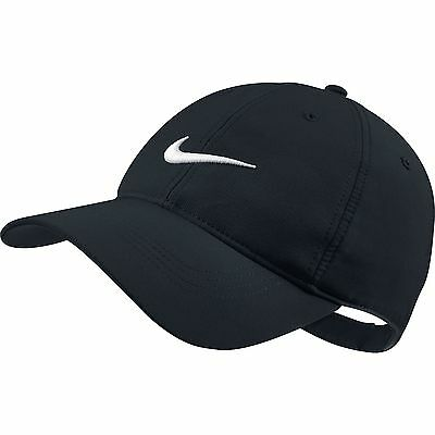 NEW Nike Legacy Tech Swoosh Black/White Adjustable Hat/Cap