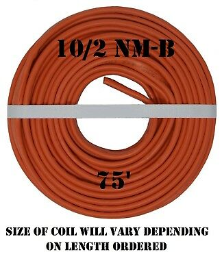 """10/2 NM/B (75') """"ROMEX"""" Non-Metallic Jacket, Copper Electrical Cable, 3 Wire"""