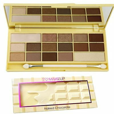 MakeUp Revolution I Heart Makeup Chocolate Naked Palette New Boxed Authentic