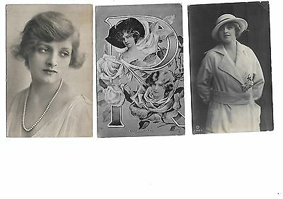 LOT 5 Early Theatre Actress Postcard Gladys Cooper Gabrielle Ray Constance Worth