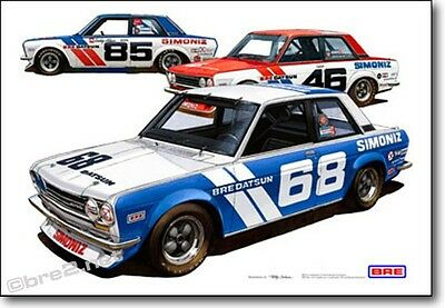 "BRE Datsun 510 TransAm 2.5 Team Cars Print (19""x13"") sold by Peter Brock BRE"