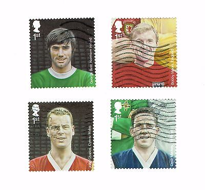 GB Stamps 2013 Football Heroes Used Self-Adhesive Booklet Set SG 3475-3478