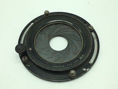 Ica Dresden Universal Iris Lens Mount for Large Format Camera Lenses - 22-54mm