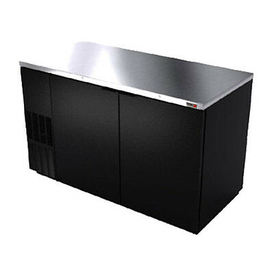 "Fagor FBB-59 59.5"" Refrigerated Back Bar Cabinet with 2 Solid Doors"